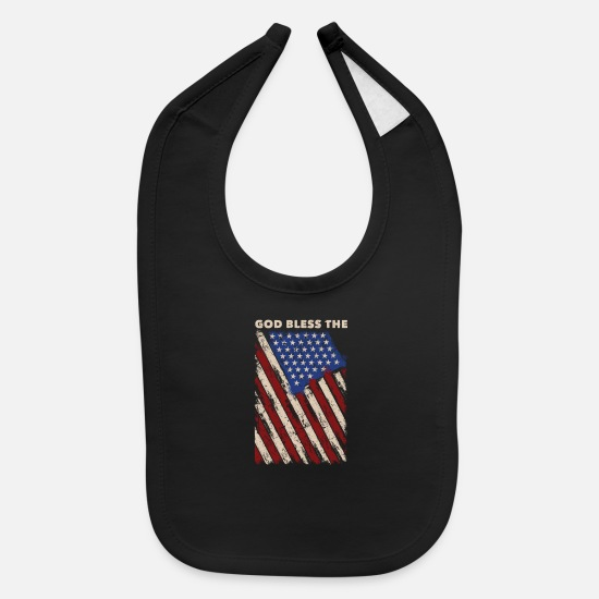 Capitalist Baby Clothing - USA - Baby Bib black