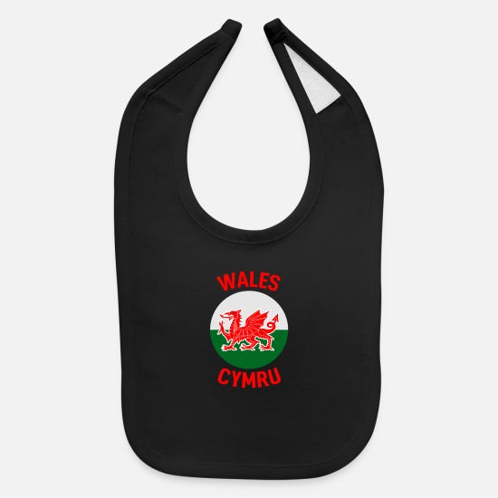 Dragon Baby Clothing - Wales Home - Baby Bib black