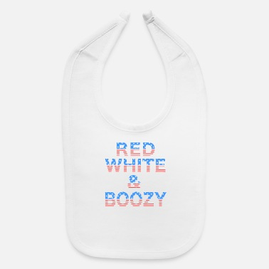 Red White and Boozy 4th of July Drinking Top - Baby Bib
