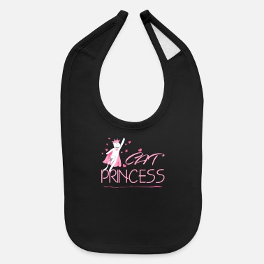 Princess Princess Girl Gift Crown Funny Daughter - Baby Bib
