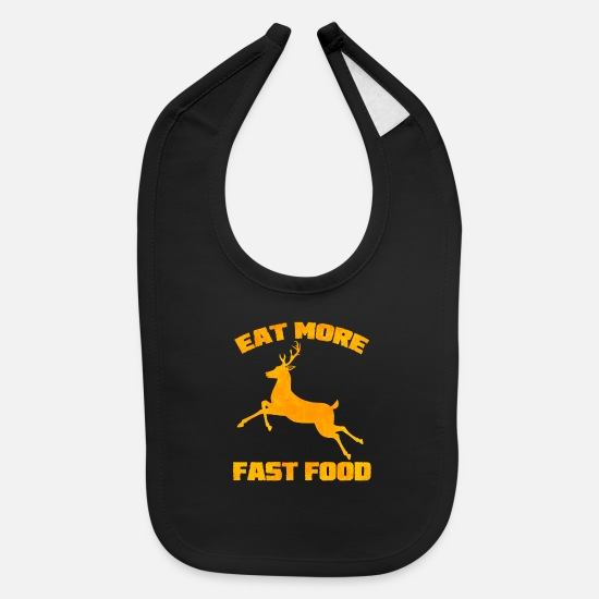 Deer Baby Clothing - Deer Hunter - Baby Bib black