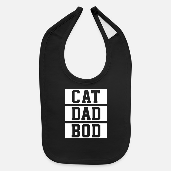 Catholic Baby Clothing - Cat Dad Gym - Baby Bib black