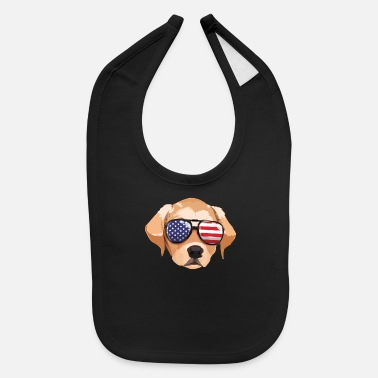 Soldiers Labrador Retriever 4th Of July American Sunglass B - Baby Bib