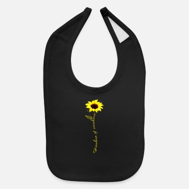 Grandma grandma sunshine sunflower yellow grandma - Baby Bib