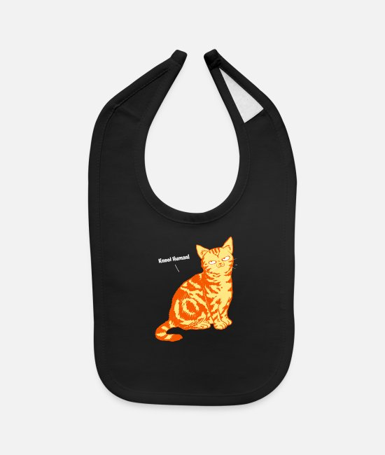 Domination Baby Bibs - Cat world domination slave sarcasm Gift - Baby Bib black