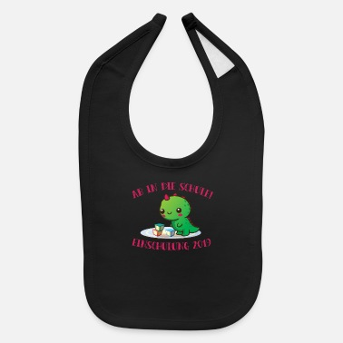 Start Of School enrolment 2019 Dino schoolchild start of school sc - Baby Bib