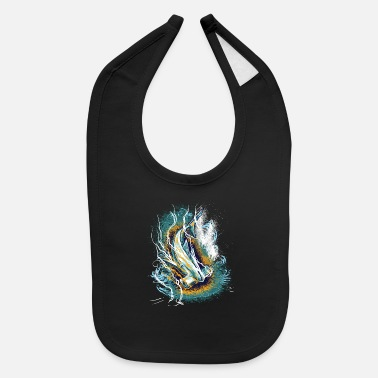 Enviromental Hammerhead Shark, Artwork, Save the Ocean - Baby Bib