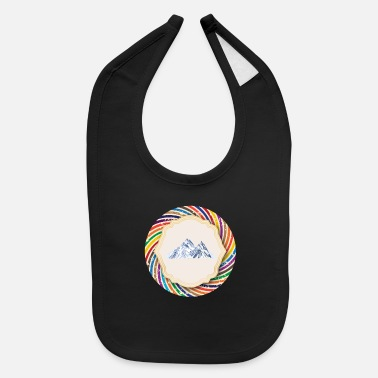 Mountains Mountains Mountain Mountaineering - Baby Bib