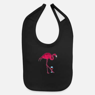 Flamingo Wine - Baby Bib
