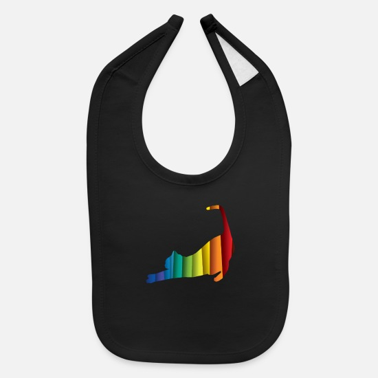 Cat Baby Clothing - Yoga Cat Cat Yoga - Baby Bib black