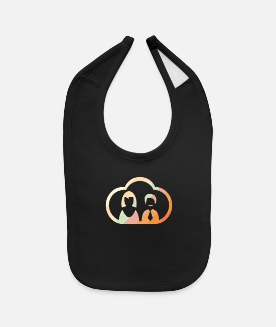 Fellowship Baby Bibs - man woman couple wedding - Baby Bib black