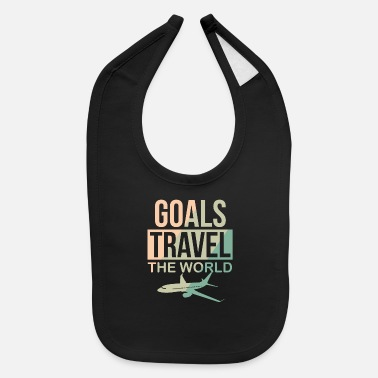 World Travel - Goals travel the world - Baby Bib