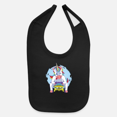 Gamer Unicorn Gamer - Baby Bib
