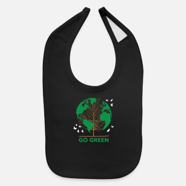 Enviromental Green Planet Go Green Earth Plants - Baby Bib