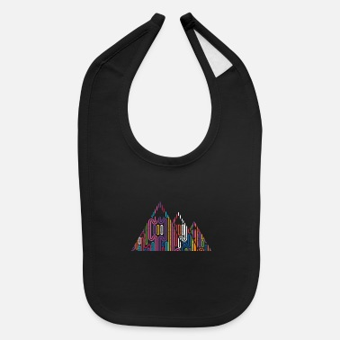 Mountains Mountains Mountain peaks Mountains - Baby Bib