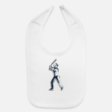 baseball player - Baby Bib