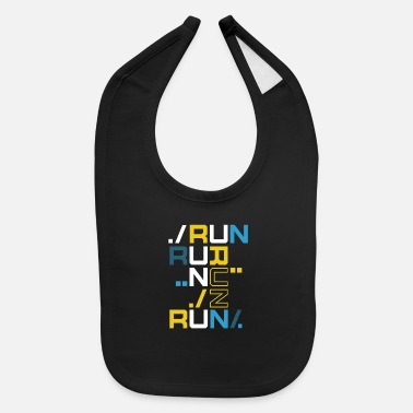 Running Run Run Run Shirt - Baby Bib
