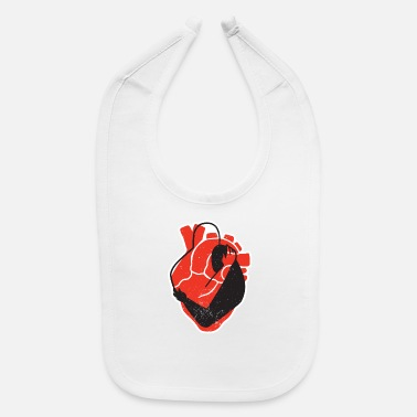 Embracement Embrace heart romantic couple embraces in heart - Baby Bib