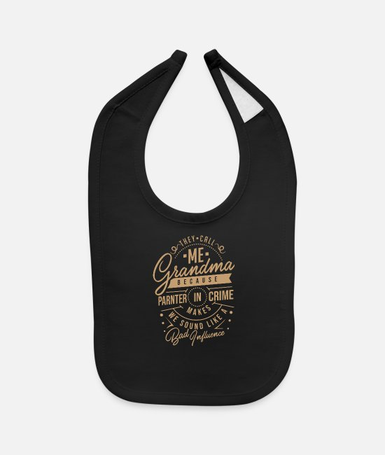 Grandpa Baby Bibs - Partner in Crime - Baby Bib black