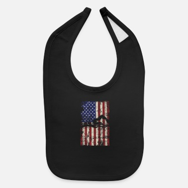 Swim Swimming USA American Flag Vintage - Baby Bib