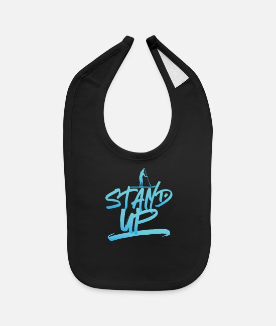 Sup Baby Clothing - SUP - Stand Up Stand up paddling - Baby Bib black