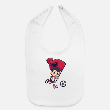 Football Albania flag Young Child Sport - Baby Bib