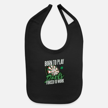Beer Born To Darts - Baby Bib