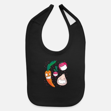 Anonymous Vegetables Face Mask Tshirt gift - Baby Bib