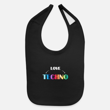 Turntable Music love Techno - Baby Bib