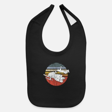 Winter Snowmobile Vintage Winter Sports Game Snow Gift - Baby Bib