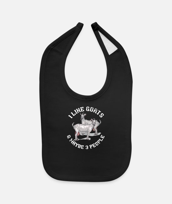 Animals Baby Bibs - goat mountain goat - Baby Bib black