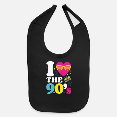 90s 90s 90s 90s Fashion 90s Music 90s Party - Baby Bib