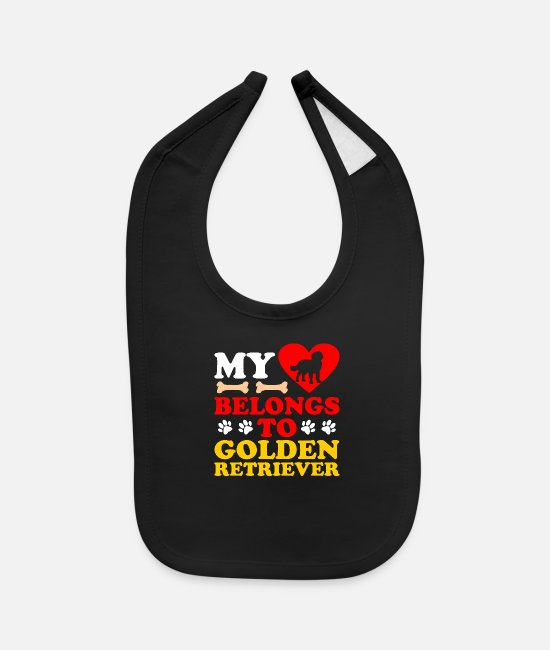 Retriever Baby Bibs - Golden Retriever - Baby Bib black