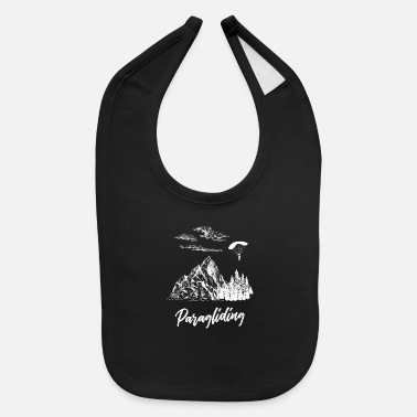 Colors Paragliding Mountains - Baby Bib