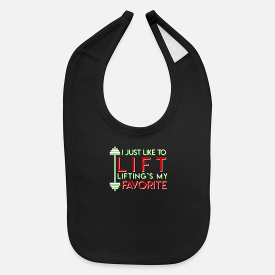Lift Baby Clothing - Like Lift Lifting Is Favorite Chirtsmas - Baby Bib black