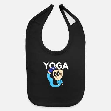 Goggley Eyes Yoga Cartoon Goggley eyes Comic Style - Baby Bib