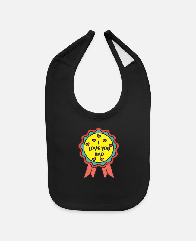 Father's Day Baby Bibs - super dad 38 F - Baby Bib black