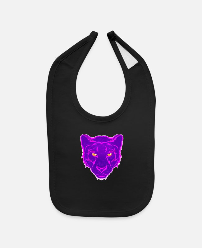 Design Baby Bibs - panther tattoo graffiti design - Baby Bib black