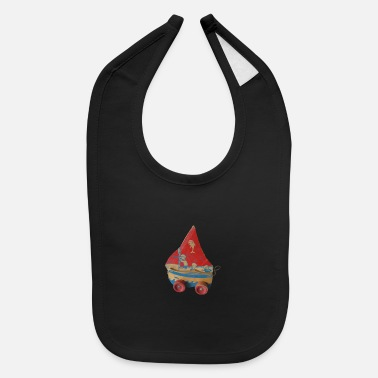 Red Sailed Boat SAIL BOAT PULL TOY - Baby Bib