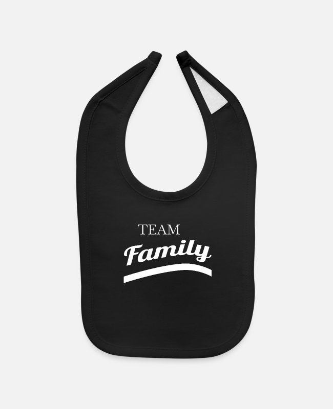 Christmas Baby Bibs - family - team family - Baby Bib black