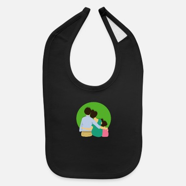 Family Happiness Happy Family - Baby Bib