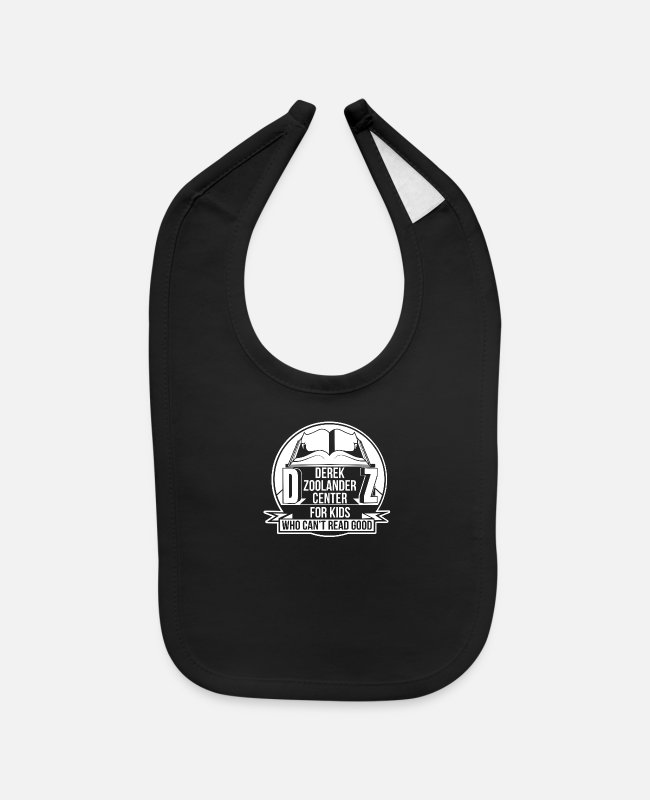 Center Baby Bibs - Derek Zoolander Center - Baby Bib black