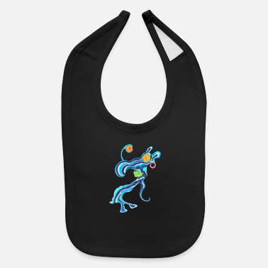 Illustration Caricature Tribal Gypsi Art Caricature Illustration 19 - Baby Bib