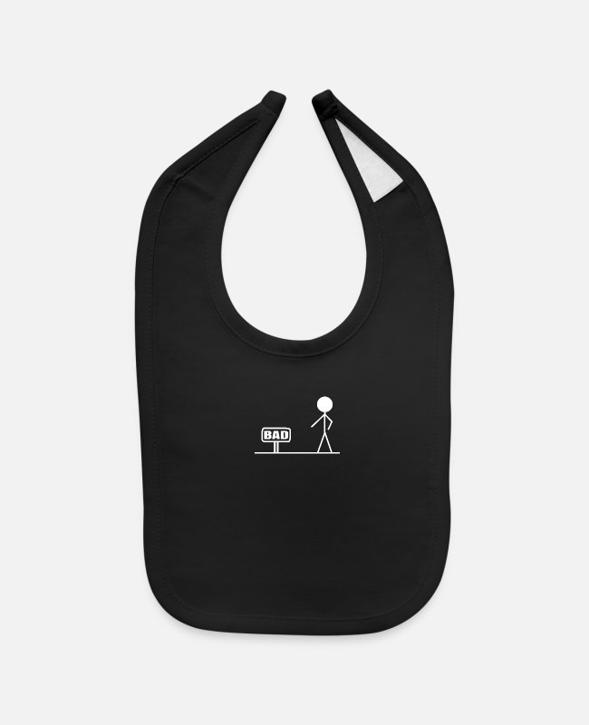 Bad Boy Baby Bibs - Bad - Baby Bib black