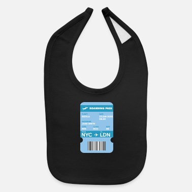 Get Tags Lost Boarding Pass from NYC to LDN - Baby Bib