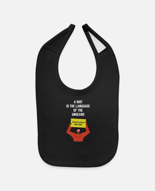 Injustice Baby Bibs - A Riot Is The Language of Unheard - Baby Bib black