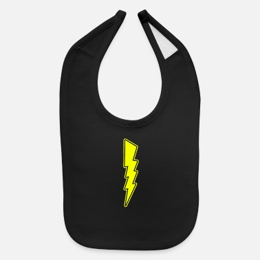 Relâmpago Bolt - Lightning - Shock - Electric - Baby Bib