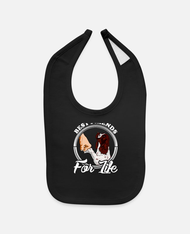 English Baby Bibs - English Springer Spaniel Gifts English Springer Sp - Baby Bib black