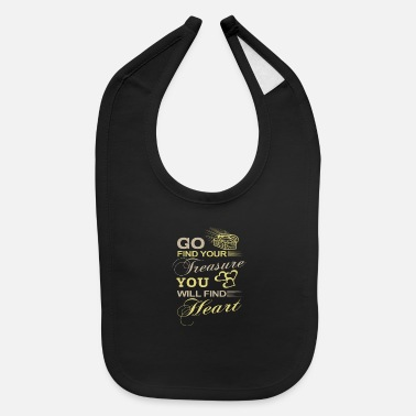 Find Find Treasure Find Heart - Baby Bib