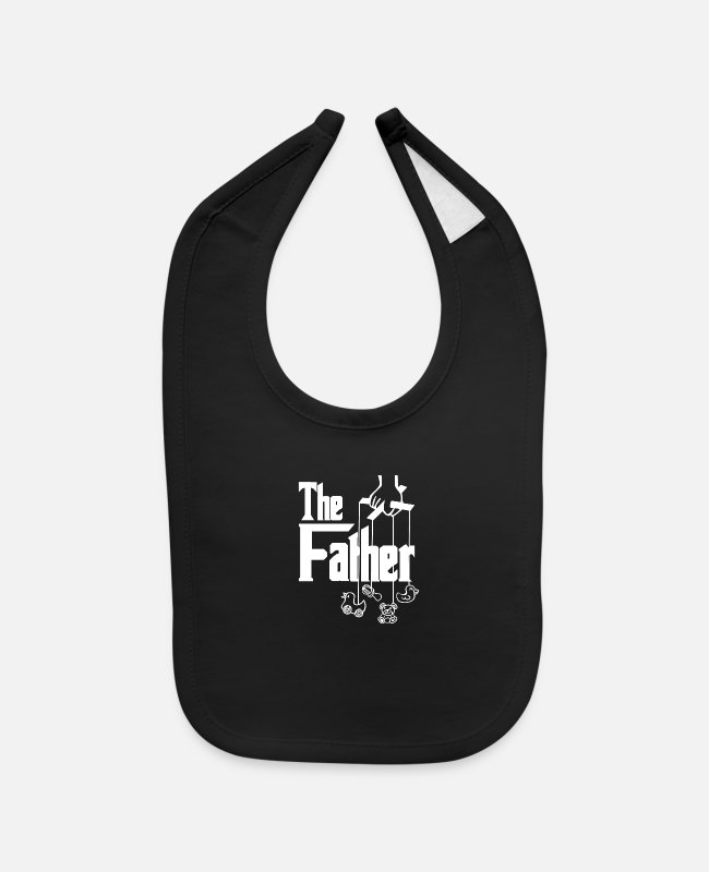Father And Son Baby Bibs - The Father - Baby Bib black